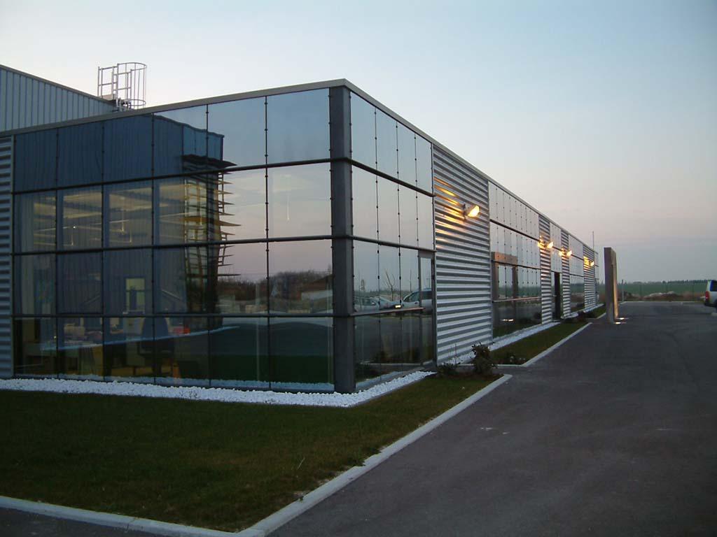 Favori Construction D'un Bâtiment Industriel De Production D'usinage De  TV17